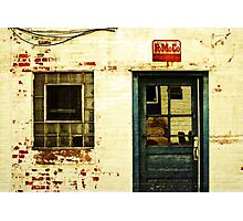 an old facade Photographic Print