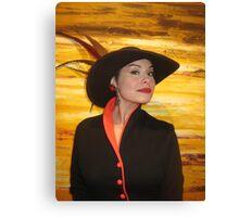 Hat lady! Canvas Print