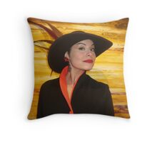 Hat lady! Throw Pillow