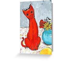 kitch cat  Greeting Card