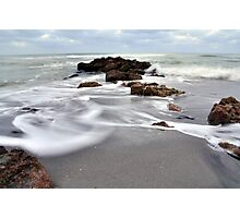 Rocks on the Beach Photographic Print