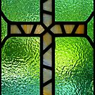 Stained Glass Cross by Ami  Wilber-Mosher