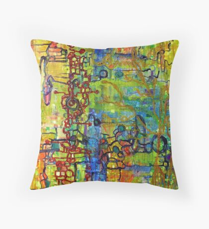 Urban Ecology Throw Pillow