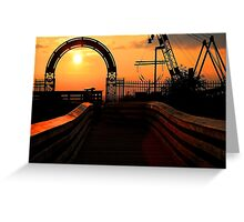 At the Gates of the Setting Sun Greeting Card