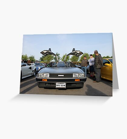 DeLorean DMC12 Greeting Card