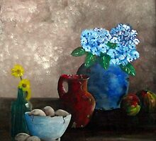 Blauwe vaas by GeertWinkel