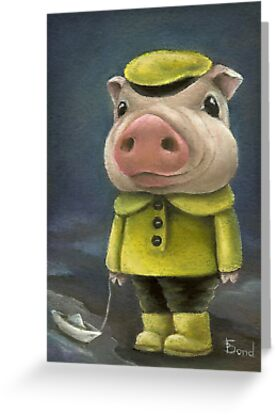 Peter the pig sailing his boat by tanyabond