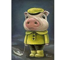Peter the pig sailing his boat Photographic Print