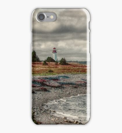 Gabarus Lighthouse Cape Breton Island iPhone Case/Skin