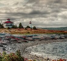 Gabarus Lighthouse Cape Breton Island by Shawna Mac