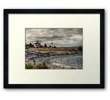 Gabarus Lighthouse Cape Breton Island Framed Print