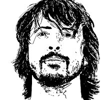 Dave Grohl Portrait - Hand Drawn - Foo Fighters by Matty723