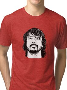 Dave Grohl Portrait - Hand Drawn - Foo Fighters Tri-blend T-Shirt