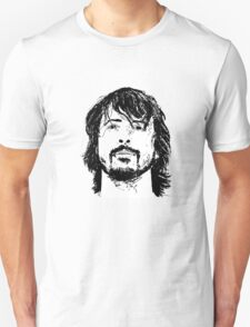 Dave Grohl Portrait - Hand Drawn - Foo Fighters T-Shirt