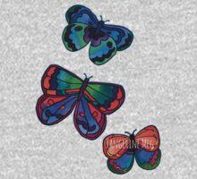 3 Bold Butterflies Kids Clothes