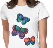 3 Bold Butterflies Womens Fitted T-Shirt