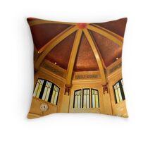 Vista House Interior Ceiling, Portland, Oregon Throw Pillow