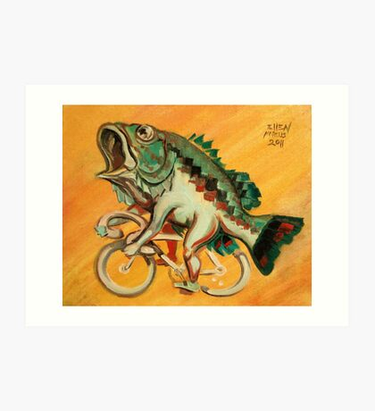 Bass on a Bicycle Art Print