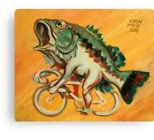 Bass on a Bicycle Canvas Print