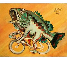 Bass on a Bicycle Photographic Print
