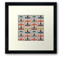 carousel damask Framed Print
