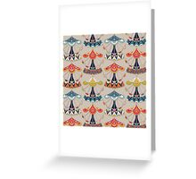 carousel damask Greeting Card