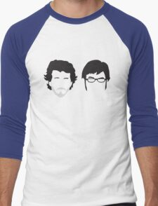 Flight of the Conchords Silly-ettes Men's Baseball ¾ T-Shirt