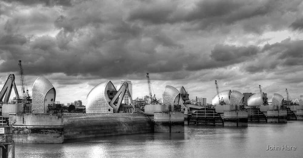 Storm Clouds Over Thames Barrier by John Hare