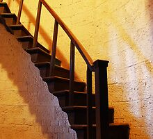 St Lawrence, Mereworth - Belfry Stairs by Dave Godden