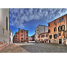 A hidden, quiet Venice - Campo de l'Anzolo Rafael Photographic Print