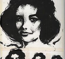 Liz Taylor x 4 by John Dicandia  ( JinnDoW )