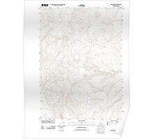 USGS Topo Map Oregon Long Barn 20110829 TM Poster