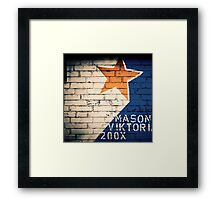 yellow star Framed Print