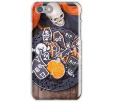 Plate of Halloween Sugar Cookies iPhone Case/Skin