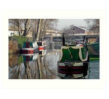 Boats At Horninglow Basin Art Print