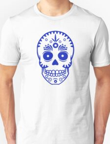 Sugar Skull 0001 blue T-Shirt