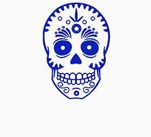 Sugar Skull 0001 blue Unisex T-Shirt