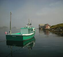 Nova Scotia Fishing Boat on the Coast by Shawna Mac