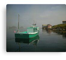 Nova Scotia Fishing Boat on the Coast Canvas Print
