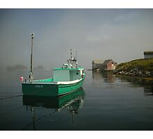 Nova Scotia Fishing Boat on the Coast Photographic Print