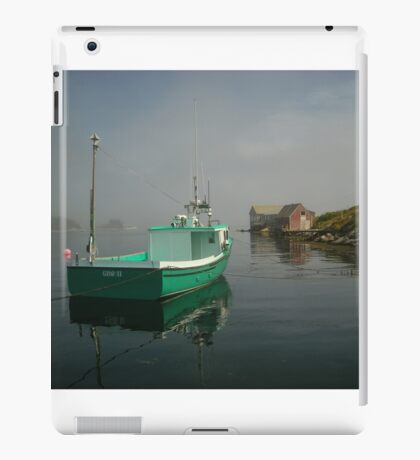 Nova Scotia Fishing Boat on the Coast iPad Case/Skin