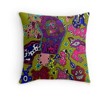 Trippin' Crazy Book cover Throw Pillow