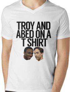 Troy And Abed On A T Shirt Mens V-Neck T-Shirt