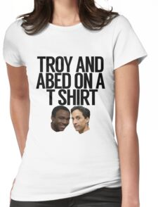 Troy And Abed On A T Shirt Womens Fitted T-Shirt