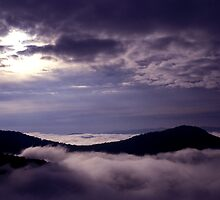 Morning fog over the California coastal range by ©  Paul W. Faust