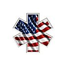 EMS AMERICAN FLAG by Tony  Bazidlo
