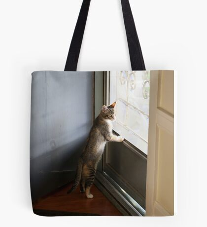 Mallory at the door Tote Bag