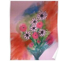 Daisey Bouquet 2  abstract/casual, watercolor Poster