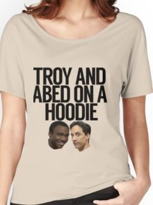 Troy And Abed On A Hoodie Women's Relaxed Fit T-Shirt