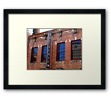 Blue Review Framed Print